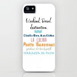 Weekend Travel iPhone Case