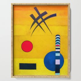 Wassily Kandinsky - Sign - Digital Remastered Edition Serving Tray