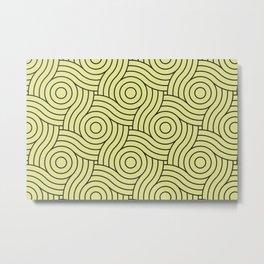 Circle Swirl Pattern VA Lime Green - Lime Mousse - Bright Cactus Green - Celery Metal Print