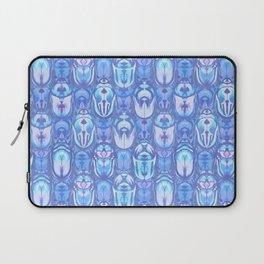 Beetles in Blue Laptop Sleeve