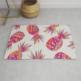 Geometric Pineapples Summer Print Rug
