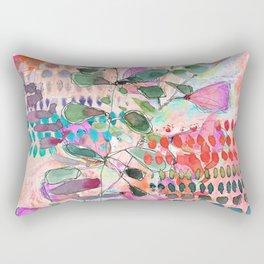 Peachy Stem Rectangular Pillow