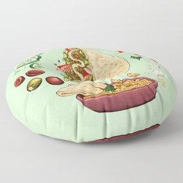 Falafel Mandala Floor Pillow