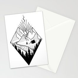 hiker hiking outdoor mountains nature camping gift Stationery Cards