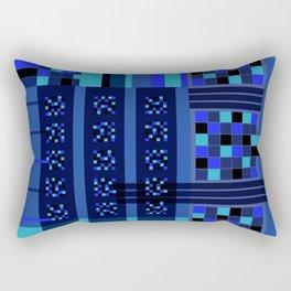 Movimiento de cuadritos azules · Glojag Rectangular Pillow