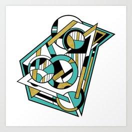 Partridge - Geometric Abstract Digital Design Art Print