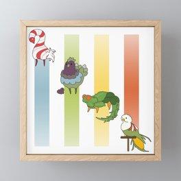 Seasonal Cuties Framed Mini Art Print