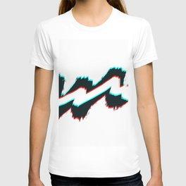 Zig zag black and white pahagh T-shirt