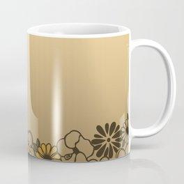 Kitschy Flower Medley Sepia Coffee Mug