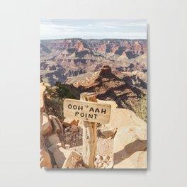 Viewpoint Grand Canyon National Park Arizona Photo | Nature Landscape Print | USA Travel Photography Metal Print
