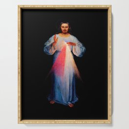 Kazimirowski  and Kowalska- The image of merciful Jesus Serving Tray