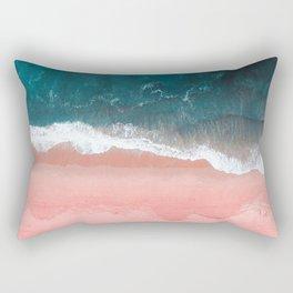 Turquoise Sea Pastel Beach III Rechteckiges Kissen