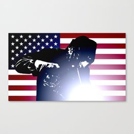 Welder: American Flag Canvas Print