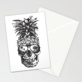 Pineapple Skull Head Stationery Cards