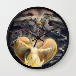 William Blake The Great Red Dragon and the Woman Clothed with the Sun Wall Clock