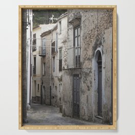 Sicilian Alley in Caltabellotta Serving Tray