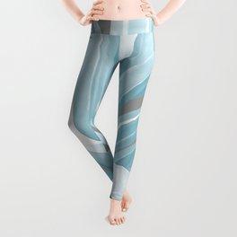 Tropical Blue Summer Leggings