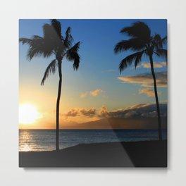 Alii Kahekili Nui Ahumanu Beach Maui Hawaii Sunset Kaanapali Metal Print