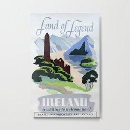 Land of Legend Vintage Travel Poster Metal Print