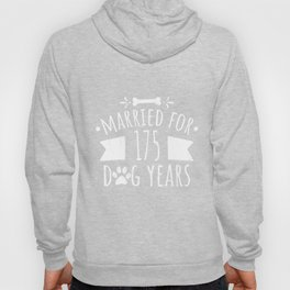 25Th Wedding Anniversary : Married For 175 Dog Years Hoody