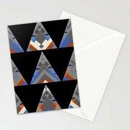 Triangular Ancestors NeoTribal Oil Geometric Stationery Cards