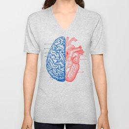 Heart and Brain Unisex V-Neck