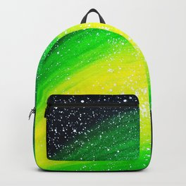Couple camping in fantasy sky Backpack