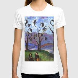 'Lovers Walk' pastoral landscape painting by Marianne von Werefkin T-shirt