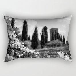 Fruit off the vine, stone pines and Beautiful Ruins black and white photography - photographs Rectangular Pillow
