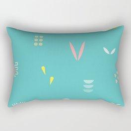 Abstract Leaf Rectangular Pillow