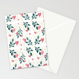 Hearts & Leaves Stationery Cards