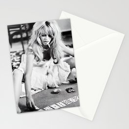 Brigitte Bardot Playing Cards, Black and White Photograph Stationery Cards