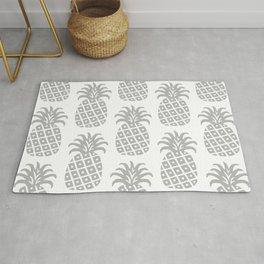 Retro Mid Century Modern Pineapple Pattern Gray Rug