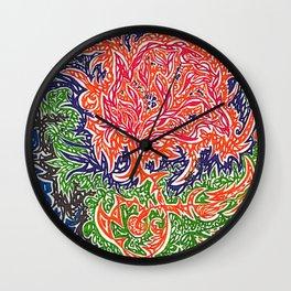 Dreamy Chrysanthemum Wall Clock