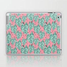 Watercolor tropical leaves pattern Laptop & iPad Skin