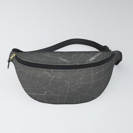 Silver Milan City Map Fanny Pack