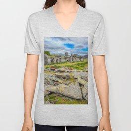 Rhos Quarry Cottages Snowdonia Unisex V-Neck