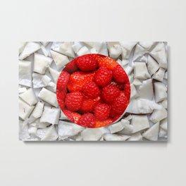 Healthy Japanese Flag Metal Print