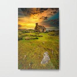 Abandoned Quarry Cottage Sunset Metal Print