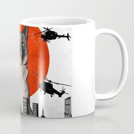 Funny Vintage Japanese Dogzilla Norwegian Elkhound T-Shirt Coffee Mug