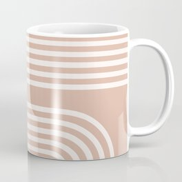 Dusty Pink Rainbow Coffee Mug