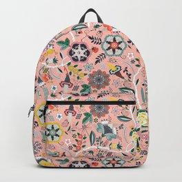 BOHO Chintz (Coral Pink) Backpack