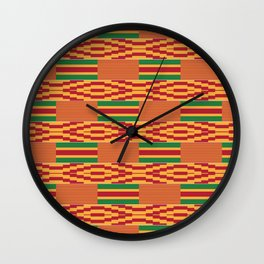 Bright Kente Cloth 10 Wall Clock