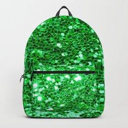 Green Glitter Pattern Backpack