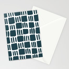 Abstract squares - teal Stationery Cards
