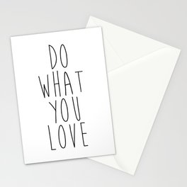Inspirational print – Do what you love print Stationery Cards
