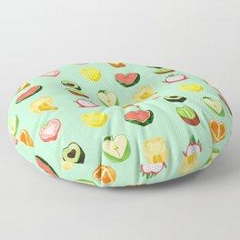 Fruit hearts Floor Pillow