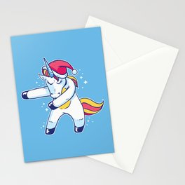 Christmas Unicorn Floss Stationery Cards
