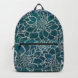 Dahlia Flower Pattern Backpack