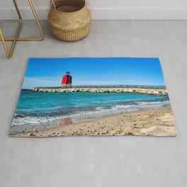 """Charlevoix Lighthouse"" Rug"